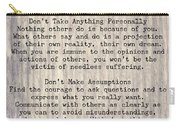 The Four Agreements 6 Carry-all Pouch
