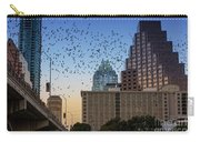 The Frost Bank Tower Stands Guard As 1.5 Million Mexican Free-tail Bats Overtake The Austin Skyline As They Exit The Congress Avenue Bridge Carry-all Pouch