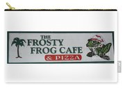 The Frosty Frog Cafe Sign Carry-all Pouch