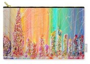 The Future City Abstract Painting  Carry-all Pouch by Julia Apostolova