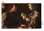 The Gamblers Carry-all Pouch by Michelangelo Caravaggio
