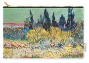 The Garden At Arles  Carry-all Pouch by Vincent Van Gogh