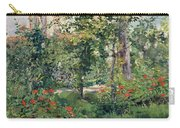 The Garden At Bellevue Carry-all Pouch by Edouard Manet