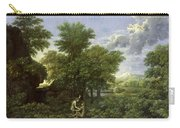 The Garden Of Eden Carry-all Pouch by Nicolas Poussin