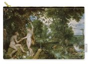 The Garden Of Eden With The Fall Of Man Carry-all Pouch