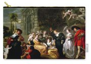 The Garden Of Love Carry-all Pouch by Peter Paul Rubens