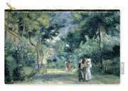 The Gardens In Montmartre Carry-all Pouch by Pierre Auguste Renoir