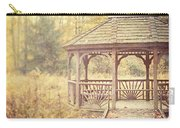 The Gazebo In The Woods Carry-all Pouch by Lisa Russo