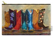 The Girls Are Back In Town Carry-all Pouch by Frances Marino