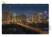 The Glimmering Neon Lights Of The Downtown Austin Skyscrapers Illuminate The Skyline Over Lady Bird Lake Carry-all Pouch