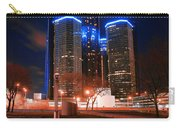 The Gm Renaissance Center At Night From Hart Plaza Detroit Michigan Carry-all Pouch