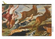 The Goddess Diana And Her Nymphs Hunting Deer Carry-all Pouch