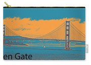 The Golden Gate Bridge In Sfo California Travel Poster 2 Carry-all Pouch
