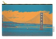 The Golden Gate Bridge In Sfo California Travel Poster Carry-all Pouch