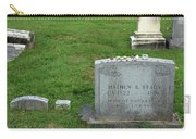 The Grave Of Mathew Brady -- Renowned Photographer Of The American Civil War Carry-all Pouch
