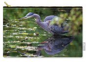 The Great Blue Heron Hunting For Food Carry-all Pouch
