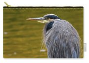 The Great Blue Heron Perched On A Tree Branch Carry-all Pouch