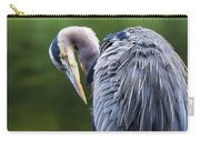 The Great Blue Heron Perched On A Tree Branch Preening Carry-all Pouch