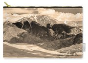 The Great Colorado Sand Dunes In Sepia Carry-all Pouch