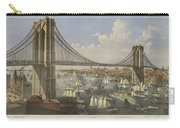 The Great East River Suspension Bridge Carry-all Pouch