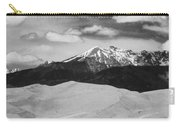 The Great Sand Dunes And Sangre De Cristo Mountains - Bw Carry-all Pouch