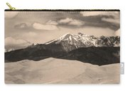 The Great Sand Dunes And Sangre De Cristo Mountains - Sepia Carry-all Pouch