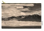The Great Sand Dunes Panorama 2 Sepia Carry-all Pouch