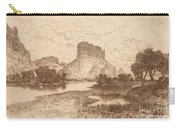 The Green River, Wyoming Territory Carry-all Pouch