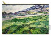 The Green Wheatfield Behind The Asylum Carry-all Pouch by Vincent van Gogh