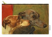 The Greyhounds Charley And Jimmy In An Interior Carry-all Pouch by John Frederick Herring Snr