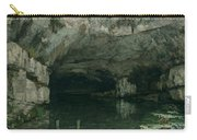The Grotto Of The Loue Carry-all Pouch by Gustave Courbet
