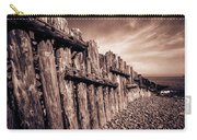 The Groynes At Porlock Weir In Sepia Tones. Carry-all Pouch