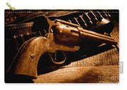 The Gun That Won The West - Sepia Carry-all Pouch