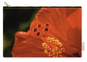 The Hibiscus Macro Carry-all Pouch