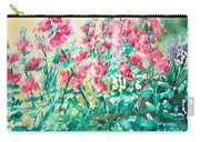 The Hollyhock Field Carry-all Pouch