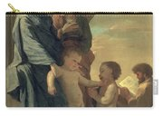 The Holy Family Carry-all Pouch by Nicolas Poussin