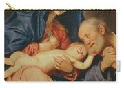 The Holy Family With A Basket  Carry-all Pouch