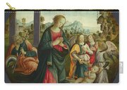 The Holy Family With Angels Carry-all Pouch