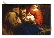 The Holy Family With Saint Francis Carry-all Pouch by Jacob van Oost