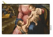 The Holy Family With The Infant Saint John The Baptist Carry-all Pouch