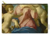 The Holy Family With The Infant Saint John The Baptist, Madonna Stroganoff  Carry-all Pouch
