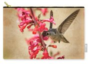 The Hummingbird And The Spring Flowers  Carry-all Pouch