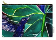 The Hummingbird And The Trillium Carry-all Pouch