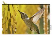 The Hummingbird And The Yellow Aloe  Carry-all Pouch