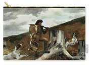 The Hunter And His Dogs Carry-all Pouch by Winslow Homer