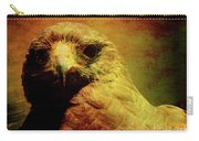The Hunter . Portrait Of A Hawk . Texture . 40d7877 Carry-all Pouch