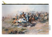 The Indian Encirclement Of General Custer At The Battle Of The Little Big Horn Carry-all Pouch