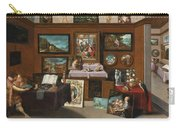 The Interior Of A Picture Gallery With Connoisseurs Admiring Paintings Carry-all Pouch