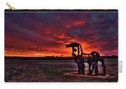 The Iron Horse Red Sky Sunset Carry-all Pouch