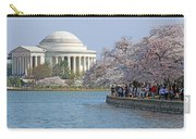 The Jefferson Memorial With Cherry Blossoms And A Lot Of People Carry-all Pouch